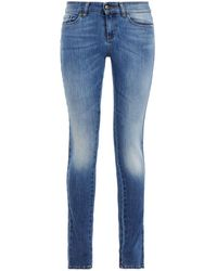 RED Valentino Mid-rise Skinny Jeans Mid Denim - Blue
