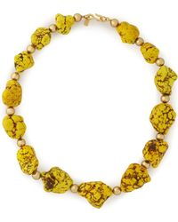 Kenneth Jay Lane - Gold-tone Beaded Stone Necklace - Lyst