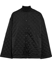 ATM Oversized Quilted Shell Jacket Black