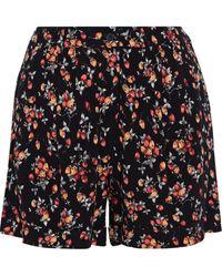 American Vintage Doly Printed Crepe Shorts - Black