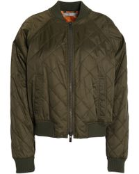 Vince - Quilted Shell Bomber Jacket Army Green - Lyst