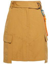 Cecilie Copenhagen Cecilie Copenhagen Jamie Embellished Cotton-blend Mini Skirt - Multicolour