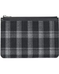 Proenza Schouler - Leather-trimmed Checked Wool-blend Clutch - Lyst