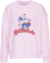 Baum und Pferdgarten - Embroidered Cotton-blend Fleece Sweatshirt - Lyst