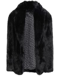 Alexander Wang Faux Fur Jacket Black