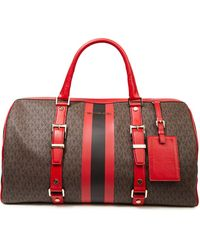 MICHAEL Michael Kors Logo-print Faux Leather Weekend Bag Red