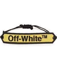 Off-White c/o Virgil Abloh Logo-jacquard Bracelet - Yellow