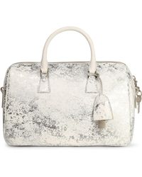 Maison Margiela - Metallic Coated Faux Leather Shoulder Bag - Lyst