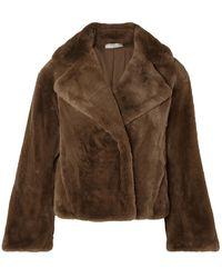 Vince Faux Fur Coat - Brown