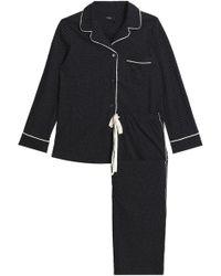 Theory - Printed Cotton-jersey Pyjama Set - Lyst