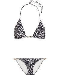 Tory Burch - Leopard-print Triangle Bikini - Lyst