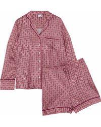 Iris & Ink - Dusty Printed Silk-blend Satin Pyjama Set - Lyst