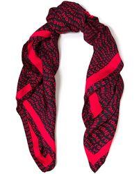 Stella McCartney Printed Silk-twill Scarf Red