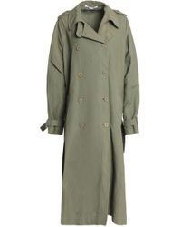 Stella McCartney - Canvas Trench Coat Army Green - Lyst