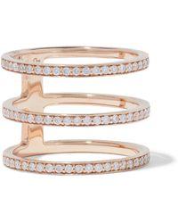 Carbon & Hyde Mikaela 14-karat Rose Gold Diamond Ring Rose Gold - Metallic