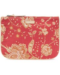 Zimmermann Floral-print Cotton-canvas Pouch - Pink