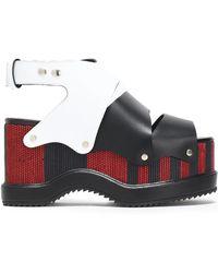 Proenza Schouler - Color-block Leather Platform Sandals - Lyst