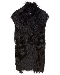 Stella McCartney Faux Fur Vest - Black