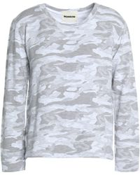 Monrow - Printed Jersey Top - Lyst