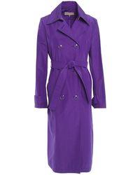 Emilio Pucci Silk And Cotton-blend Trench Coat Violet - Purple