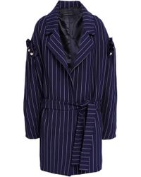 Mother Of Pearl - Deon Faux Pearl-embellished Pinstriped Twill Coat - Lyst