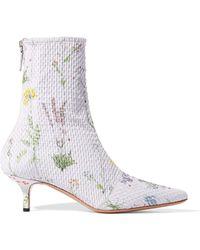 Altuzarra - Elliot Floral-print Matelassé Ankle Boots - Lyst