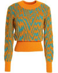 Missoni - Woman Bouclé-knit Sweater Orange - Lyst