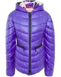 Emilio Pucci Quilted Shell Hooded Jacket - Purple
