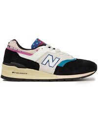 New Balance - Suede, Leather And Embroidered Canvas Sneakers - Lyst