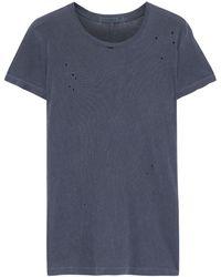 Stateside Distressed Slub Supima Cotton-jersey T-shirt - Gray