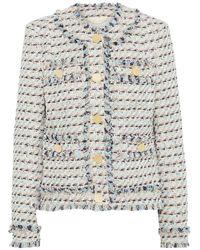 Adam Lippes Frayed Bouclé-tweed Jacket Multicolour