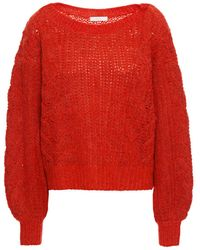Joie Pravi Cable-knit Sweater Red