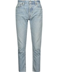 RE/DONE - Cropped High-rise Straight-leg Jeans - Lyst