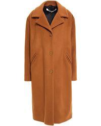 McQ Wool-blend Felt Coat Light Brown