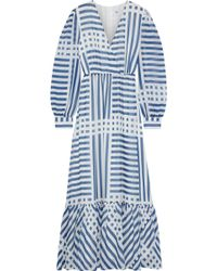 Iris & Ink Kayla Printed Georgette Maxi Dress Blue