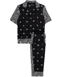 DKNY Printed Cotton-blend Jersey Pyjama Set - Black