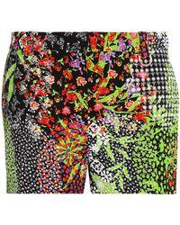 Versace - Printed Crepe Shorts - Lyst