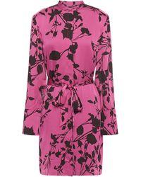 Equipment Roseabelle Floral-print Crepe De Chine Mini Dress - Purple