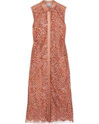 Michelle Mason Woman Cotton-blend Corded Lace Top Petrol Size 0 Michelle Mason Outlet New Cheap Sale For Nice Recommend Sale Online Q0gu5JatAn