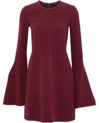 Ellery Preacher Bell Sleeved Crepe Dress - Red
