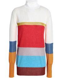 Missoni - Striped Knitted Turtleneck Jumper - Lyst