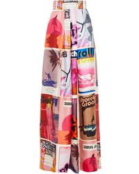 Zimmermann Wavelength Pleated Printed Silk-twill Wide-leg Pants - Multicolor