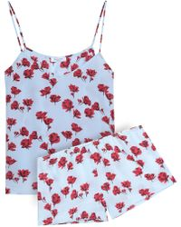Equipment - Alexy Floral-print Silk Crepe De Chine Pyjama Set - Lyst