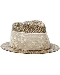 Brunello Cucinelli Embellished Crepe De Chine And Straw Panama Hat Sand - Natural