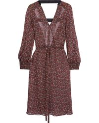 Junya Watanabe - Open-back Floral-print Georgette Dress - Lyst