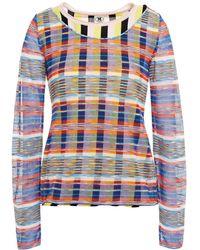 M Missoni Layered Cotton-blend Crochet-knit Jumper - Pink