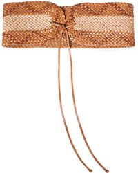 Zimmermann Braided Two-tone Leather Belt Tan - Brown