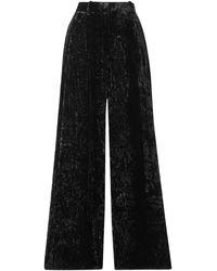 Racil Peter Crushed-velvet Wide-leg Pants - Black