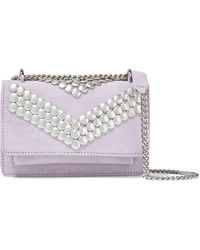 IRO Venice Studded Suede Shoulder Bag Lilac - Purple