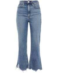 3x1 Empire Faded High-rise Kick-flare Jeans - Blue